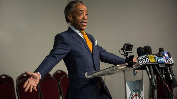 The Rev. Al Sharpton held a news conference Tuesday to discuss allegations that he worked with the FBI as an informant on mob activities.