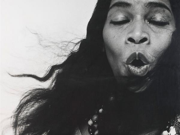 Marian Anderson would continue to make civil rights history. In January 1955, she broke the color barrier for vocal soloists at New York's Metropolitan Opera when Met manager Rudolf Bing hired her to sing in Verdi's <em>Un ballo en maschera</em>. Five months later Richard Avedon took this now iconic photograph of Anderson. (Courtesy of the National Museum of American History.)