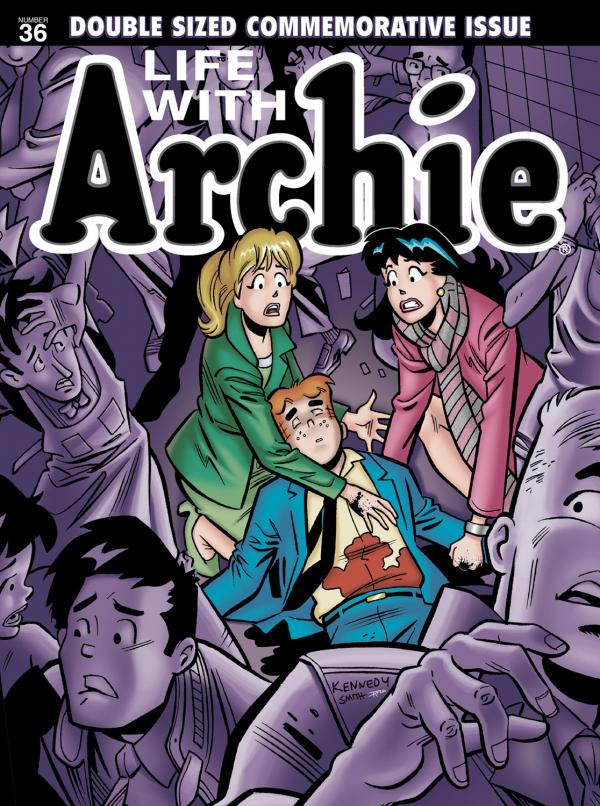 <strong>Say It Ain't So:</strong> Archie Andrews meets his maker in Archie Comics' upcoming issue of <em>Life with Archie</em>.