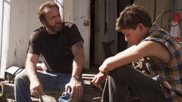 Nicolas Cage (left) and Tye Sheridan star in the film adaptation of Larry Brown's 1991 novel, <em>Joe</em>.
