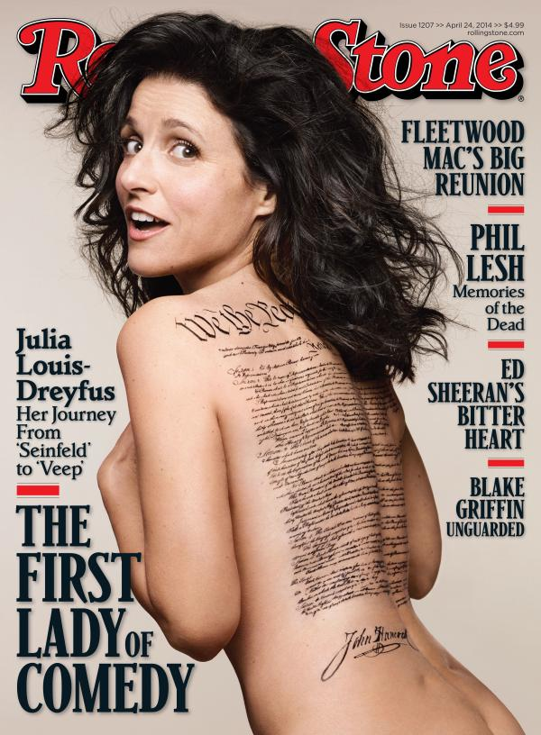 That John Hancock on Julia Louis-Dreyfus' back caught some eyes.