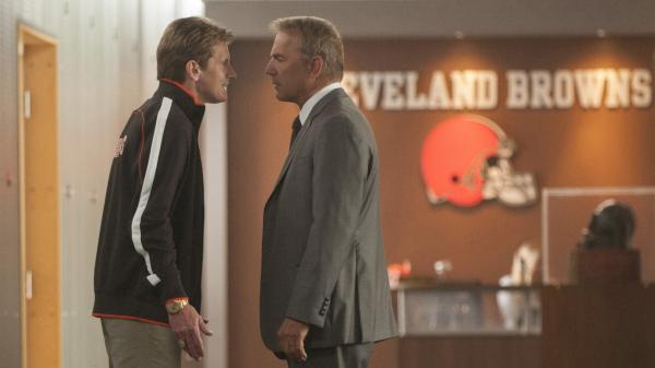 Denis Leary plays a wound-up coach and Kevin Costner plays a general manager in <em>Draft Day</em>, a comedy set on the NFL's most stressful day of the year.
