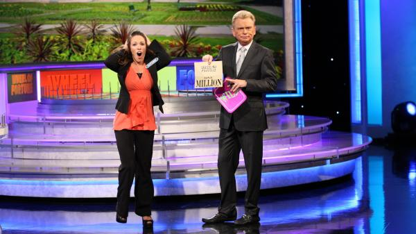 After correctly guessing a word puzzle on May 30, 2013, Autumn Erhard becomes the second contestant on <em>Wheel of Fortune</em> to win $1 million.