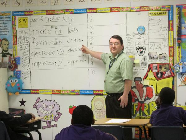 Teacher Mr. Gilbert at Roberston Charter School in Decatur