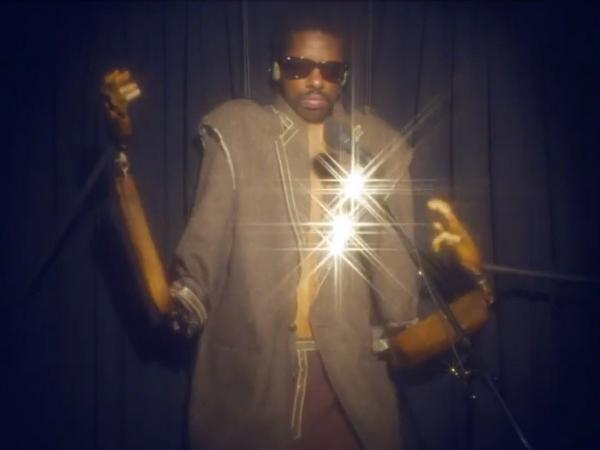 "Curtis Harding in a scene from his video for the song ""Keep On Shining."""