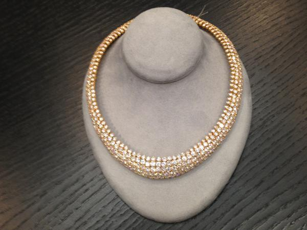 This diamond necklace was pawned at New York Loan. It's for sale for $65,000.