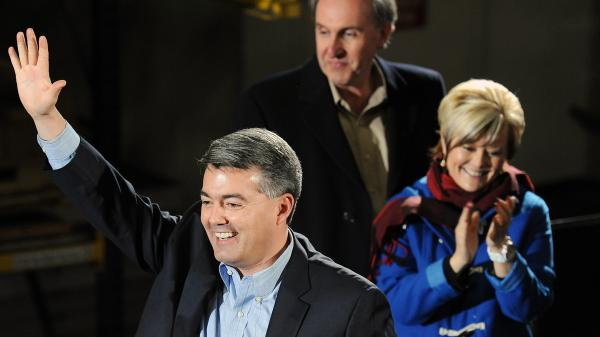Colorado Republican Congressman Cory Gardner after he announced his candidacy for U.S. Senate in March. He's challenging incumbent Democratic Sen. Mark Udall.