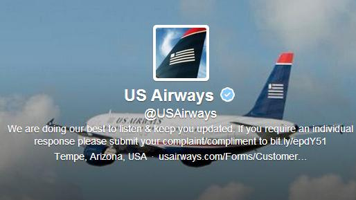 The Twitter account for US Airways created an embarrassing incident for the airline Monday, after an inappropriate image was included in a tweet to a customer.