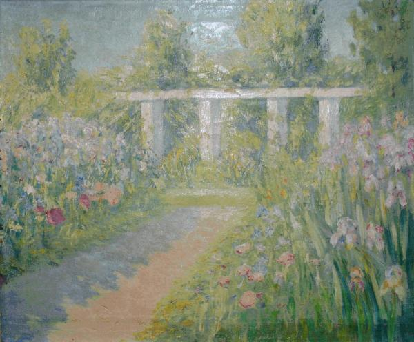The GSA recovered Anne Fletcher's <em>Iris Garden</em> after its then-owner watched an episode of PBS's <em>Antiques Roadshow</em> and realized the painting was actually a WPA piece.
