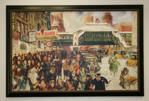 John Sloan's <em>Fourteenth Street at Sixth Avenue </em>hung in the office of Sen. Royal Copeland until his death in 1938. After that, the painting was lost until 2003.
