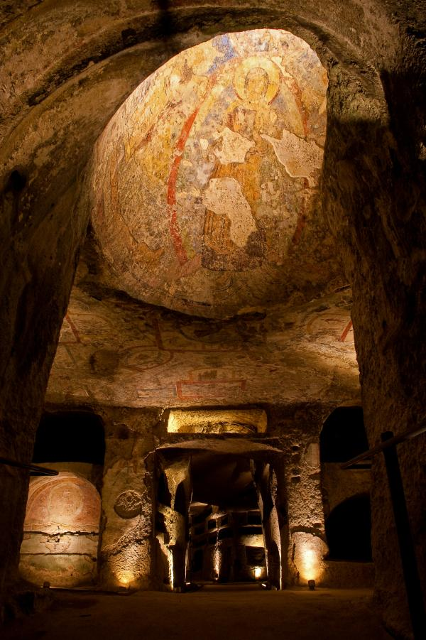 Up to 40,000 visitors a year come through the catacombs, up from 5,000 before the restoration.