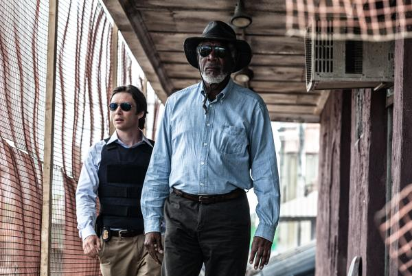 Some corridors are made of wood and mesh! (Again, Cillian Murphy and Morgan Freeman.)