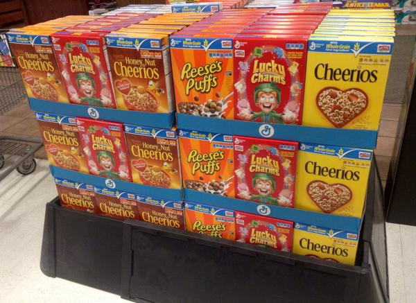 "If you download a coupon for a General Mills product like Reese's Puffs or Lucky Charms, or ""like"" a product on Facebook,  you may be barred from suing company under General Mills' new privacy policy. (Mike Mozart/Flickr)"