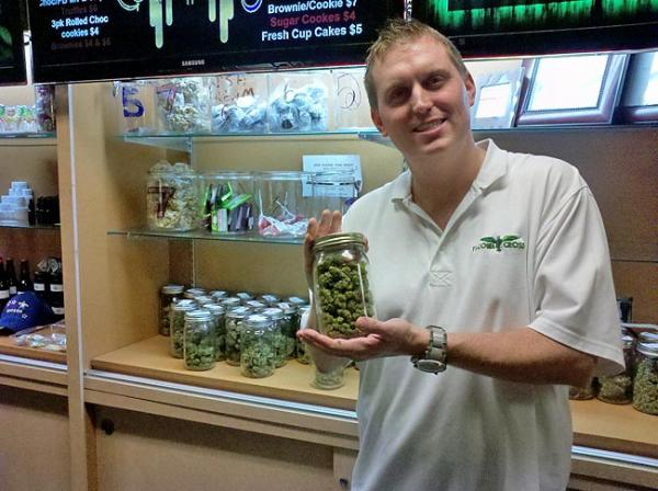 File photo of James Lucas of Tacoma Cross, a medical marijuana dispensary