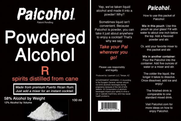 Is liquid alcohol inconvenient? The federal government has approved seven labels of Palcohol, including this one for a powdered shot of rum.