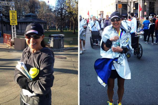 """Myers was feeling overwhelmed and emotional with all of the messages of support before the race. After the race she was thankful that so many people believed in her and her cause, which was to raise money for a friend's <a href=""""http://npr8.tumblr.com/post/81887361762/running-for-wilson"""">8-year-old son</a> who has leukemia."""