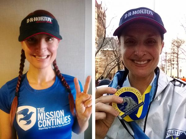 "Before, Clark was feeling wistful and anxious but after the marathon she felt victorious. ""Boston got their day back!"""
