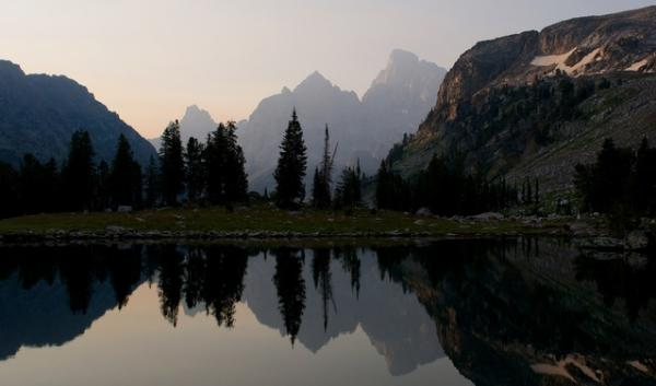 New research from the U.S. Geological Survey shows some fish in the West's pristine, alpine lakes like Lake Solitude in Grand Teton National Park (pictured here) have high mercury levels.