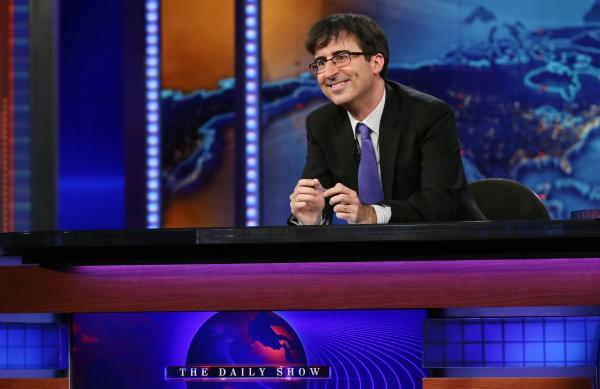 John Oliver guest hosted <em>The Daily Show with Jon Stewart</em> in June 2013. His new HBO show, <em>Last Week Tonight</em>, premieres Sunday.