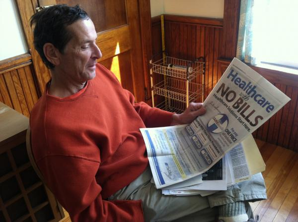 Richard Coll saw an advertisement for a flat-rate colonoscopy in his local paper. (Todd Bookman/NHPR)