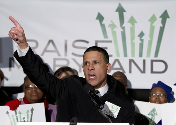 Lt. Gov. Anthony Brown at a January 2014 minimum-wage rally outside the Maryland State House.