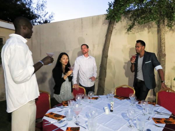 Once a month, Trio Toques serves a five-course meal at a location in Dakar that is disclosed only to confirmed guests.