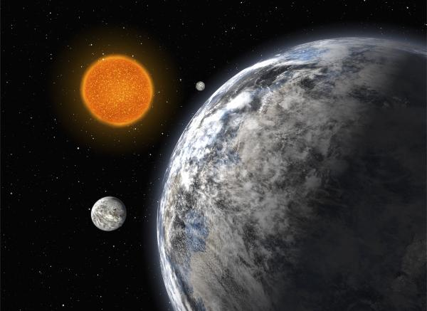 "An artist's impression of a trio of super-Earths discovered with the ESO's <a href=""http://www.eso.org/public/teles-instr/lasilla/"">3.6-m telescope at La Silla</a>, Chile."