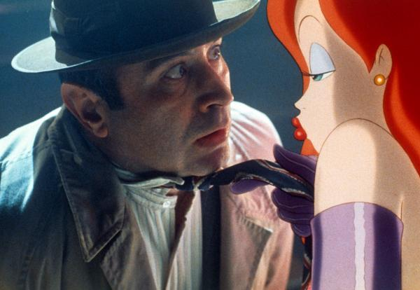 Hoskins in one of his most memorable roles, detective Eddie Valiant in <em>Who Framed Roger Rabbit.</em>