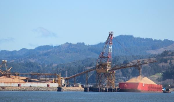 Coos Bay near where a proposed pipeline would bring natural gas to be exported.