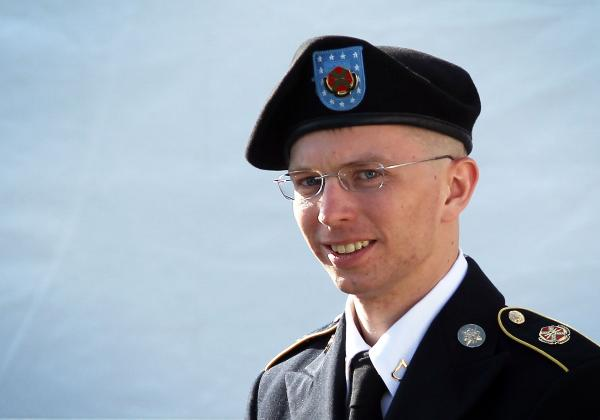 U.S. Army Pfc. Bradley Manning.
