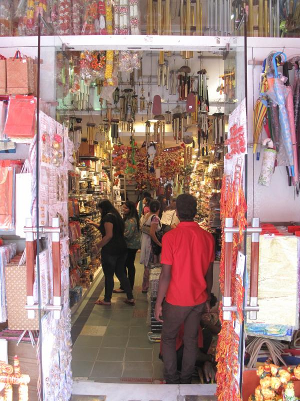 In Tarquin Hall's novels, Vish Puri's detective office is located in Khan Market, near shops like this one.