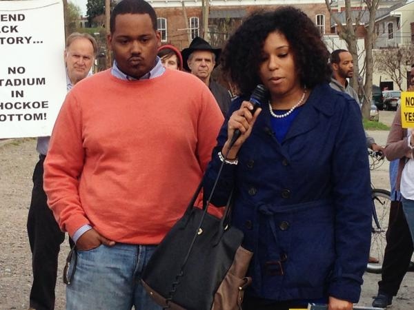 Cousins Linsey Williams and Justin Dixon Northup Gilliam, the great, great, great, great grandchildren of Solomon Northup, have entered the debate about what to do at Shockoe Bottom.