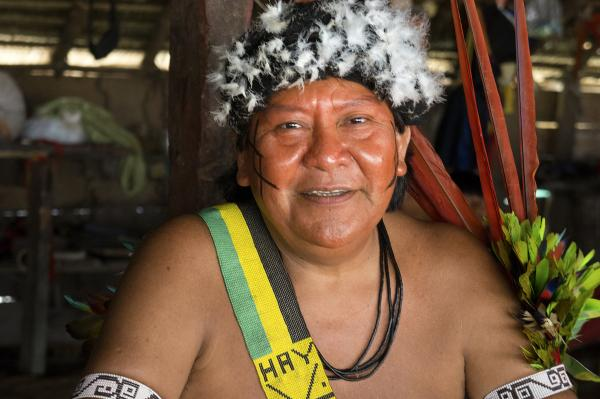 "Shaman Davi Kopenawa Yanomami is an advocate for his people and president of the <a href=""http://www.hutukara.org"">Hutukara Yanomami Association</a>."