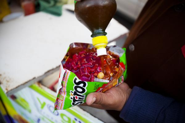 Shake on some chamoy (pickled fruit sauce.)