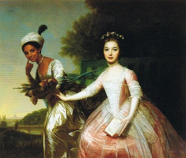 Johann Zoffany's 18th century painting portrays Dido Elizabeth Belle and her cousin Elizabeth Murray.