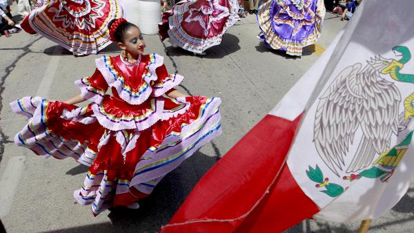 Members of Dance Academy of Mexico perform during last year's Cinco de Mayo celebrations in Milwaukee.