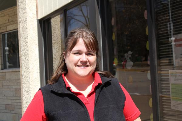 Local university extension agents often help maintain local food systems. Teresa Wiemerslage, with Iowa State University, works with the Northeast Iowa Food and Farm Coalition.