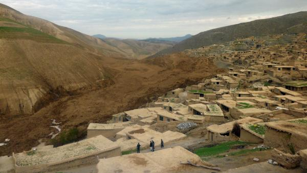 The landslide that struck Afghanistan's Abi-Barik village Saturday came in two stages. The second, larger landslide claimed the lives of the first wave of rescuers while they tried to dig out survivors.