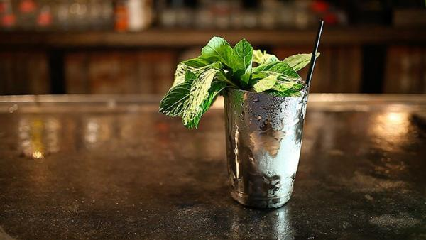 A mint julep as prepared by bartender Jared Schubert of Louisville bar The Monkey Wrench.