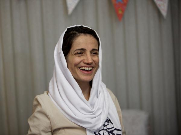 Iranian lawyer Nasrin Sotoudeh (shown here at her home in Tehran on Sept. 18, 2013, following her release from prison) was one of the last lawyers taking on human rights cases in Iran before her arrest in 2010.