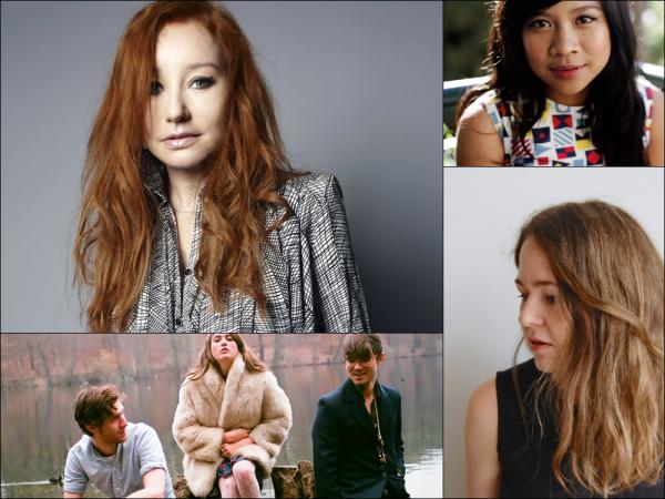 Clockwise from upper left: Tori Amos, Zee Avi, Alice Boman, Fenster