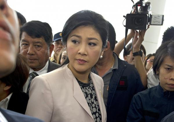 Thai Prime Minister Yingluck Shinawatra is pictured on March 31, 2014. (Pornchai Kittiwongsakul/AFP/Getty Images)