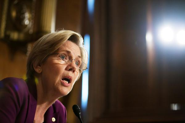 U.S. Sen. Elizabeth Warren (D-MA) is pictured on Capitol Hill, July 11, 2013 in Washington, D.C. (Drew Angerer/Getty Images)