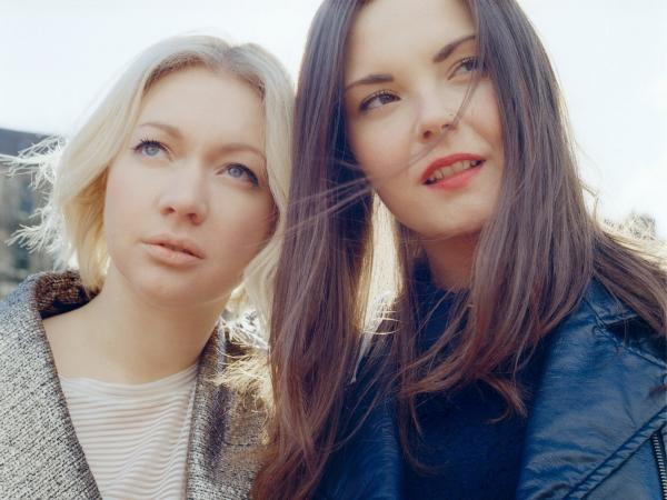 Singer/guitarist Stina Tweeddale and drummer Shona McVicar of the Glasgow duo Honeyblood