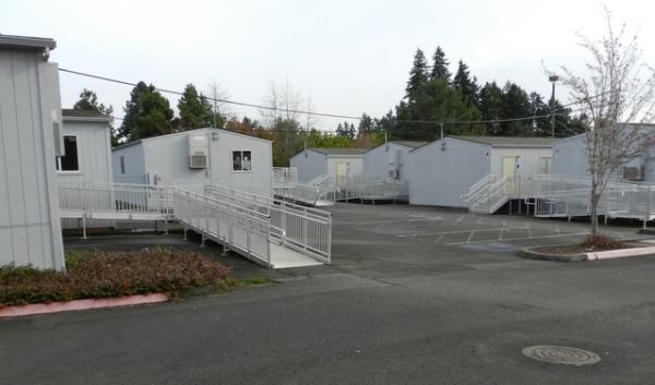 Westview High School in Beaverton has a village of 16 portable classrooms in a parking lot next to the main building.