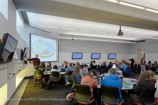A Science Teaching and Student Services classroom at the University of Minnesota. (Copyright © 2014 Regents of the University of Minnesota. Photographs used with permission.)