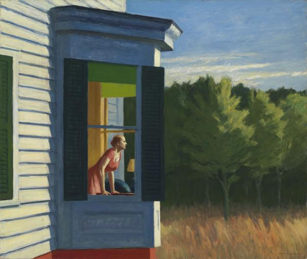 "Edward Hopper's 1950 <em>Cape Cod Morning</em> is one 70 works on display at the American Art Museum as part of the exhibit <a href=""http://americanart.si.edu/exhibitions/archive/2014/roby/"">""Modern American Realism: The Sara Roby Foundation Collection.""</a>"