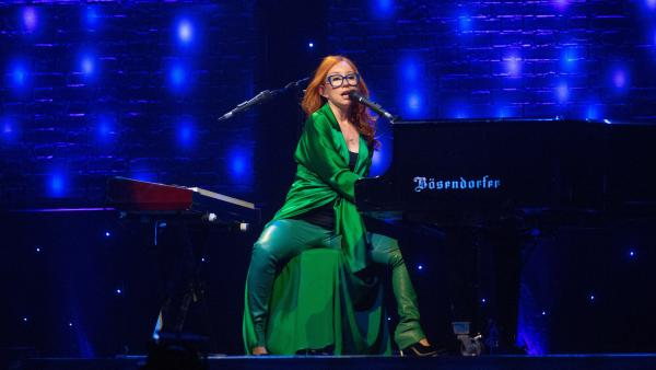 Tori Amos on stage in Glasgow, three days before the release of her 14th studio album, <em>Unrepentant Geraldines.</em>