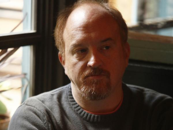 "Louis C.K. in the episode ""So Did the Fat Lady,"" which also stars actress Sarah Baker."