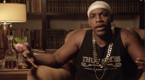 """Comedian Greg Edwards presents brief book reports of classic literature using a hip-hop vernacular in the popular web series """"Thug Notes,"""" created by Jared Bauer. (Screenshot)"""